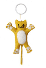 BeYoona BeYoona - Vilten sleutelhanger gele kat