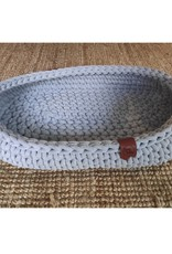 Sunny Baskets Sunny Baskets - ovale hand gehaakte kattenmand grijs