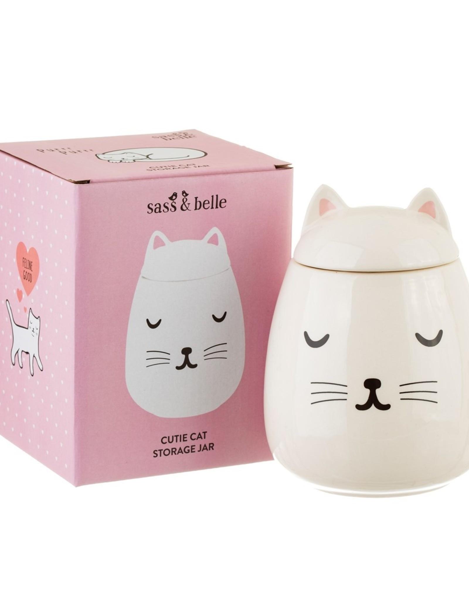 Sass & Belle Sass & Belle - cutie cat storage jar
