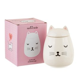 Sass & Belle Sass & Belle - cutie cat storage jar