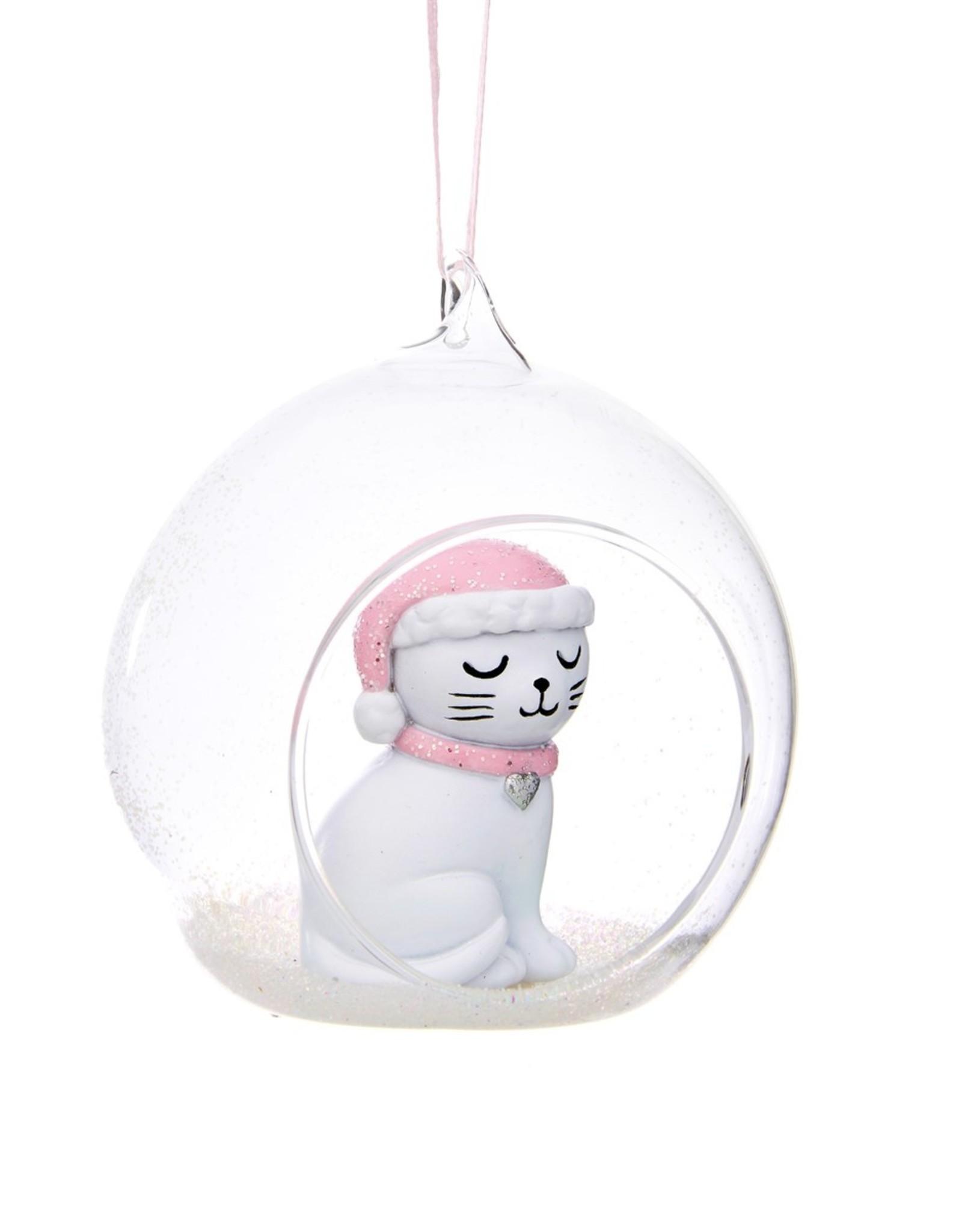 Sass & Belle Sass & Belle - cutie cat open kerstbal