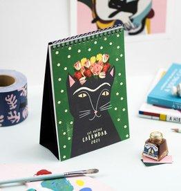 Niaski Niaski - Cat artist desk kalender 2021
