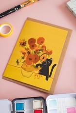 Niaski Niaski - sunflower cat kaart