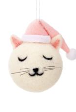 Sass & Belle Sass & Belle - Felt Cutie cat kerstbal