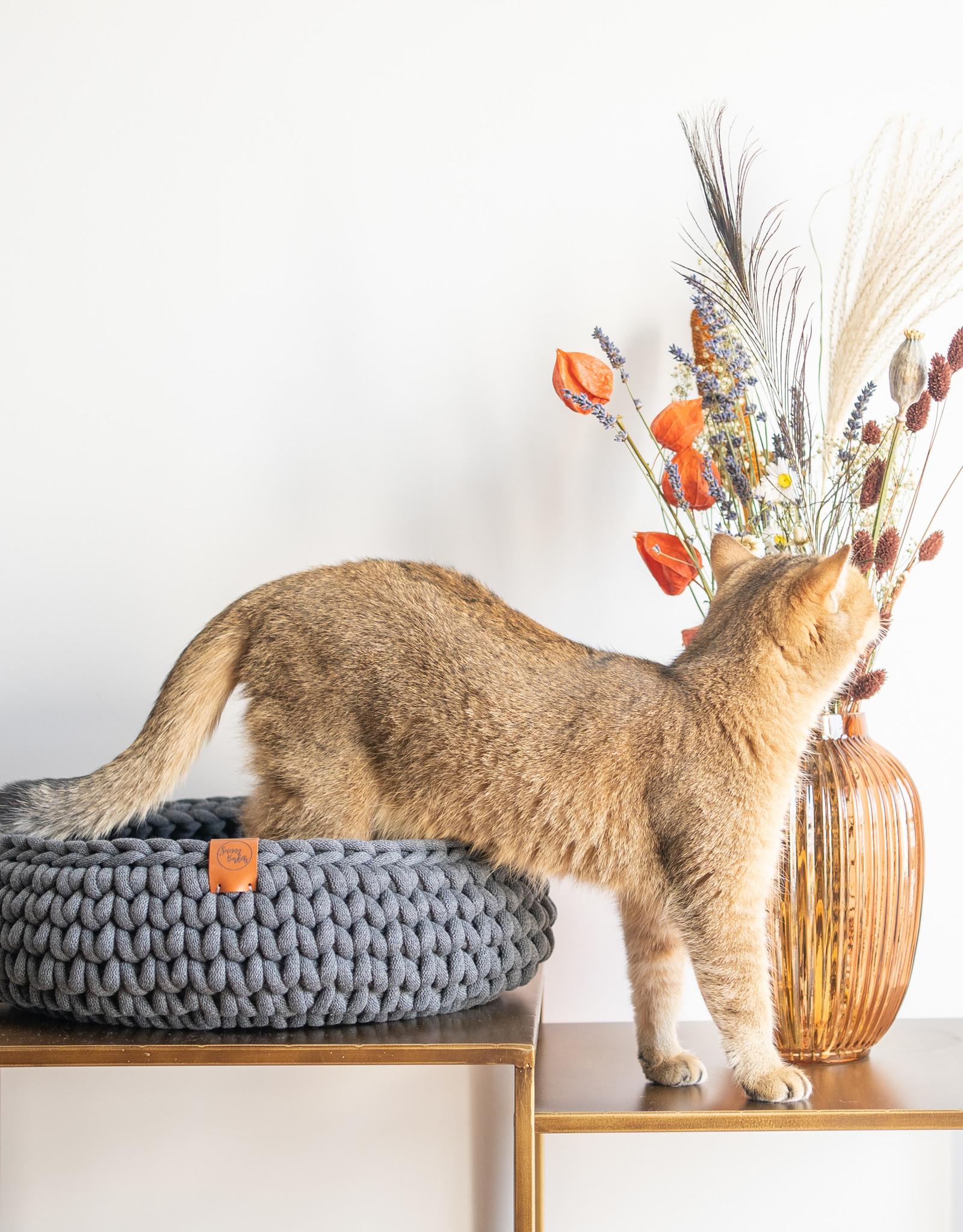 Sunny Baskets Sunny Baskets handgehaakte kattenmand  - Charcoal medium