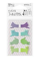 Midori Midori index stickers Cats groen blauw paars
