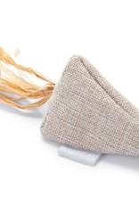 Beeztees Beeztees  - Catnip yeti driehoek beige linnen raffia