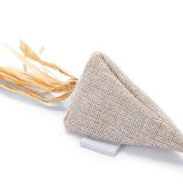 Beeztees Beeztees Catnip driehoek beige linnen raffia
