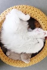 Sunny Baskets Sunny Baskets handgehaakte kattenmand - oker geel M
