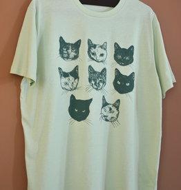 Kopjes Kopjes portretjes - T-shirt - Boxy- Green- XL