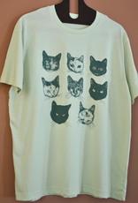 Kopjes Kopjes portretjes - T-shirt - Boxy- Green- S