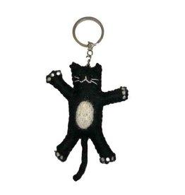 BeYoona BeYoona - Vilten sleutelhanger Zwarte