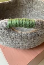 BeYoona BeYoona - basket vilten mand groen handvat