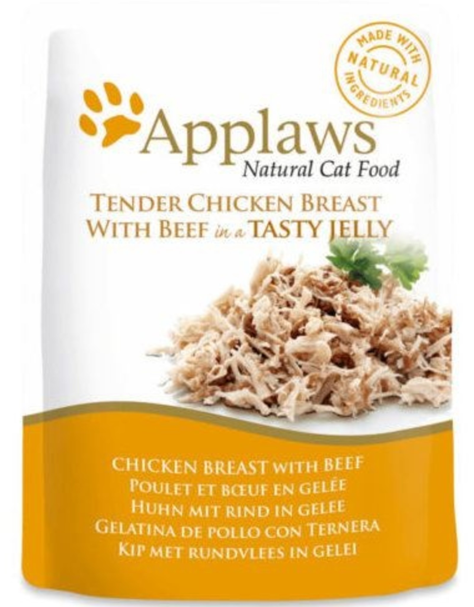 Applaws Applaws Cat - Chicken Breast  with beef in Jelly