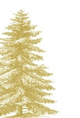 Servetten 33x33 cm - Gold Tree (engraved)