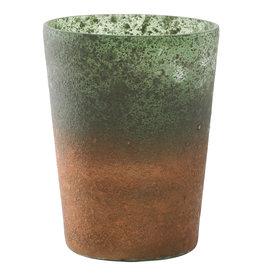 Theelichthouder Copper Green L