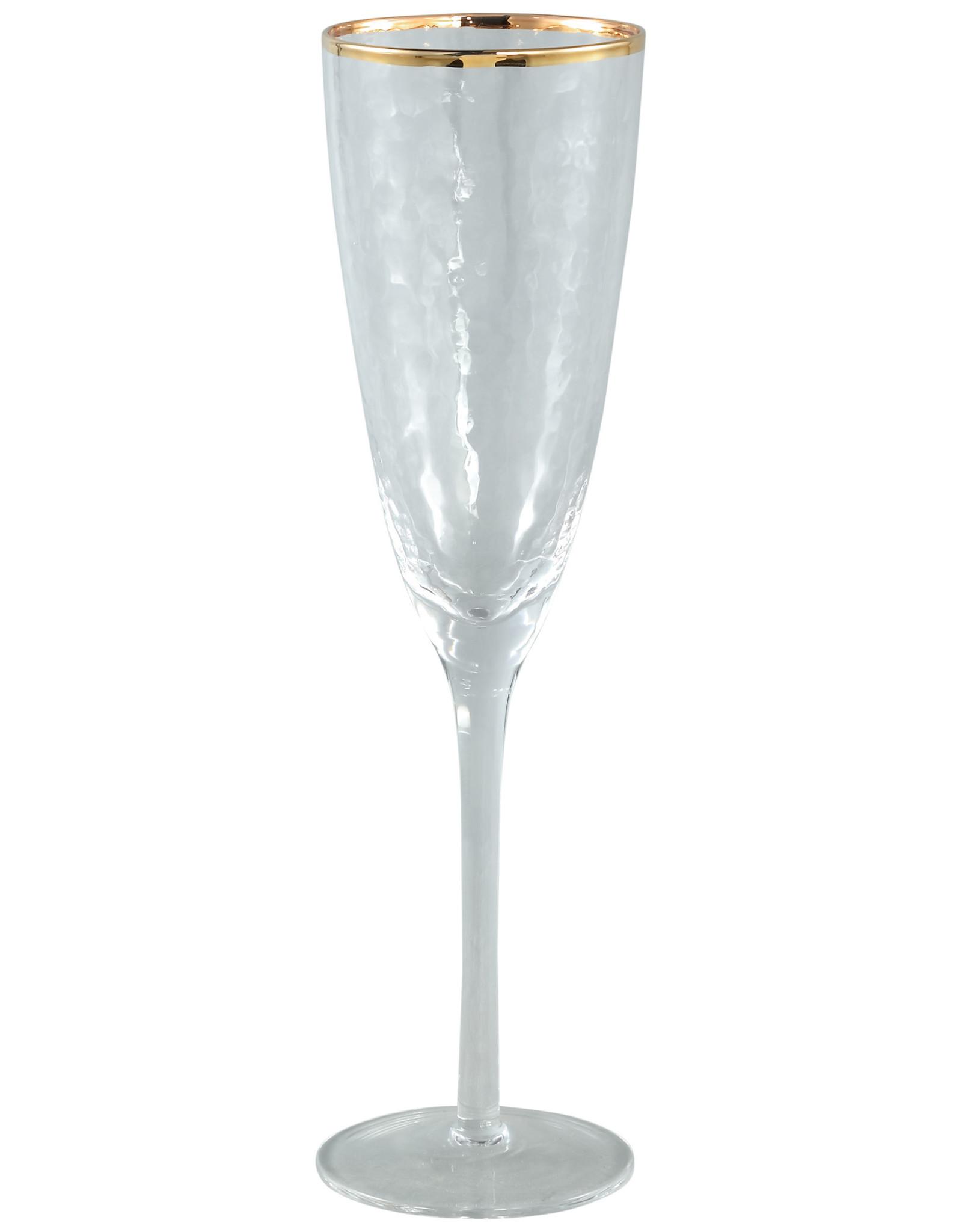 Champagneglas met gouden rand