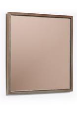 Spiegel koperglas vierkant 25cm
