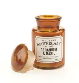 Paddywax Geurkaars sojawas - Geranium & Basil 226g
