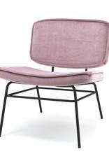 Fauteuil Curve - Velvet Roze