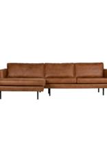 4-zit Eco-Leder met chaise longue links (4 kleuren)