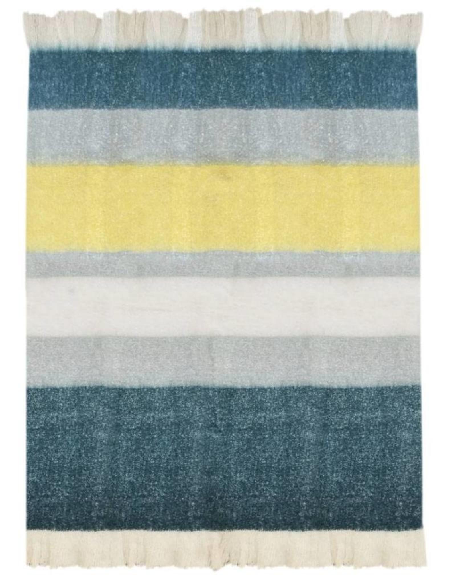 Plaid Soft Blauw/Grijs/Geel