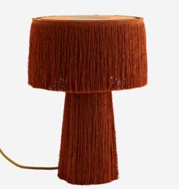 Tafellamp met franjes - roest