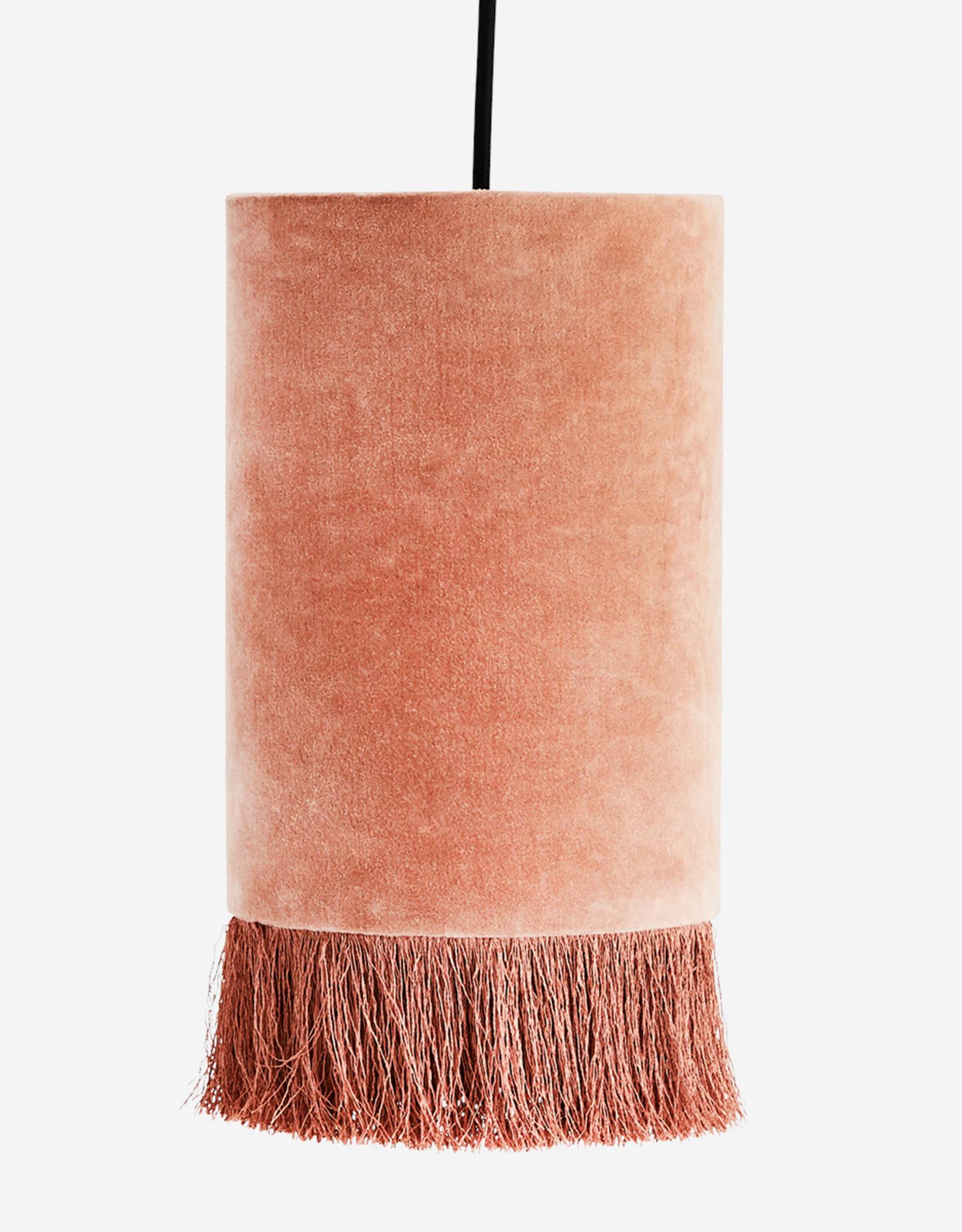 Hanglamp Velvet + Franjes - oudroze