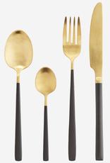 Bestek two tone gold/grey - set v 4