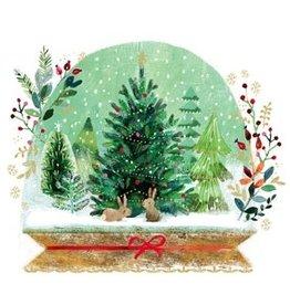 Servetten 33x33cm Holiday Snowglobe