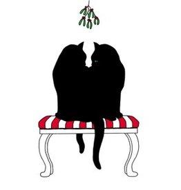 Servetten 25x25 cm Black Cat Mistletoe