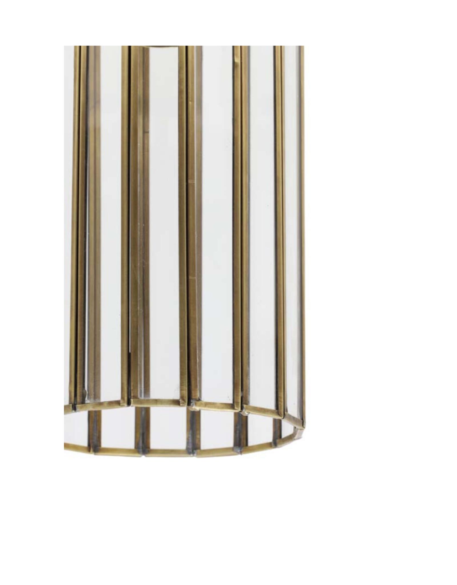 Hanglamp Brons & Glas
