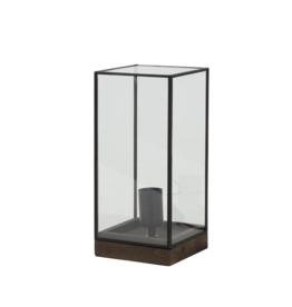 Tafellamp in zwarte stolp H30 cm