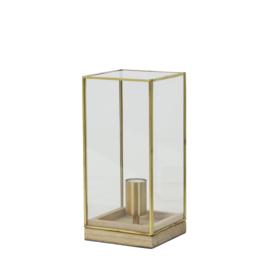 Tafellamp in bronzen stolp H30 cm