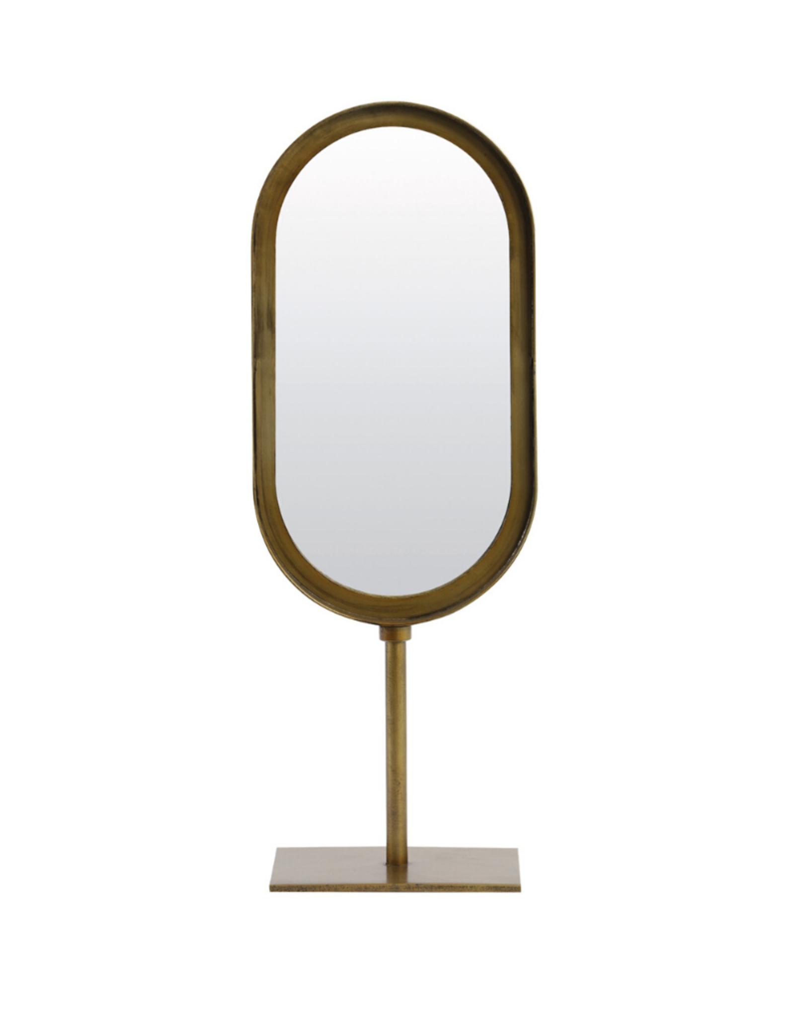 Staande Spiegel Ovaal Brons H45cm