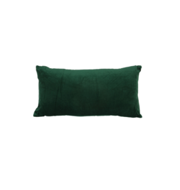 Kussen velvet groen langwerpig
