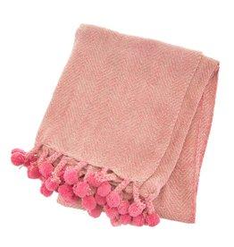 Pom Pom Plaid - Roze