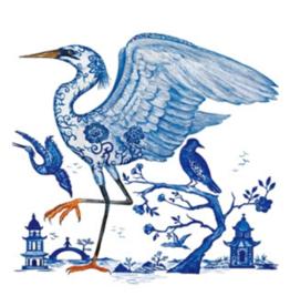 Servetten 25x25 cm Prince's Egret