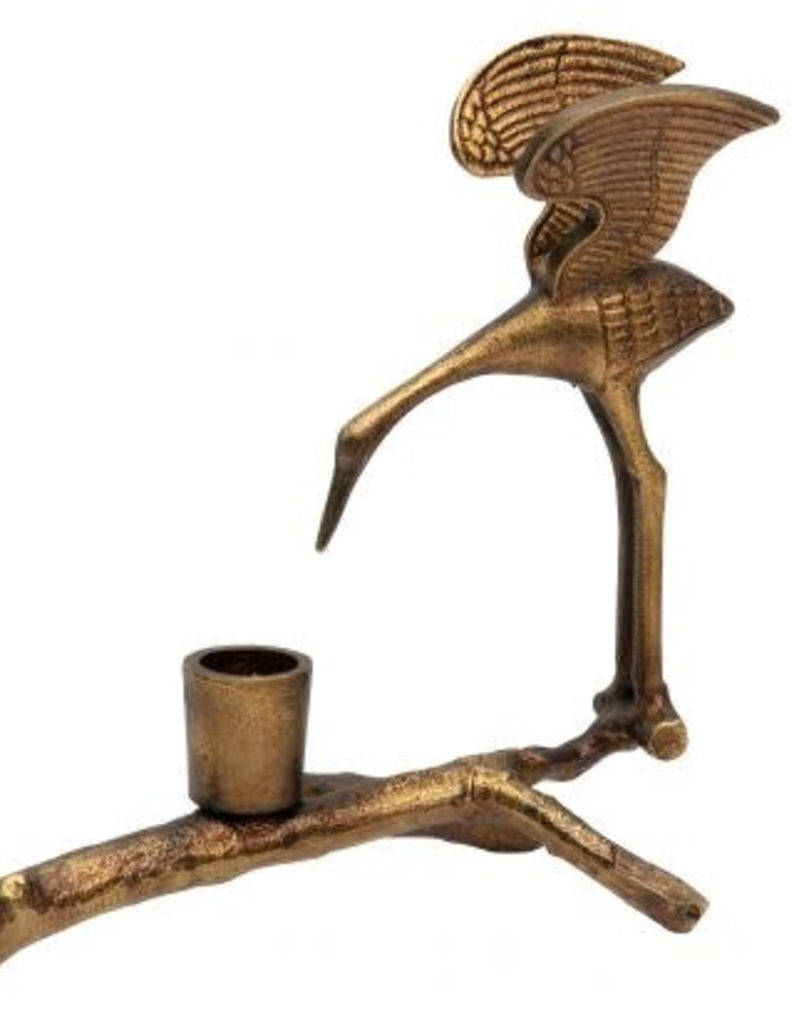 Kandelaar Kraanvogel goud