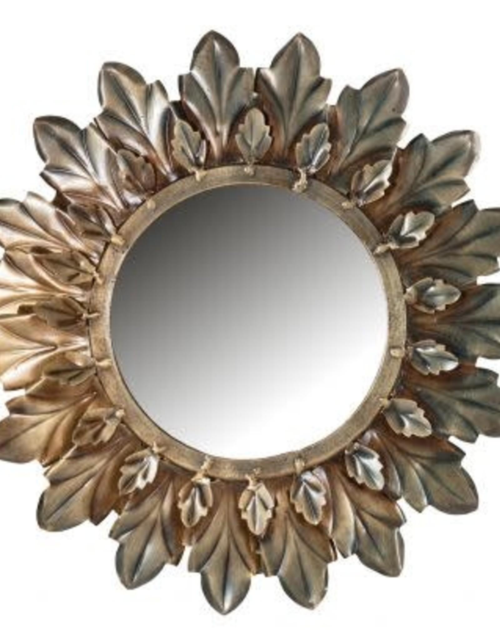 Spiegel Gold Leaves ø27cm