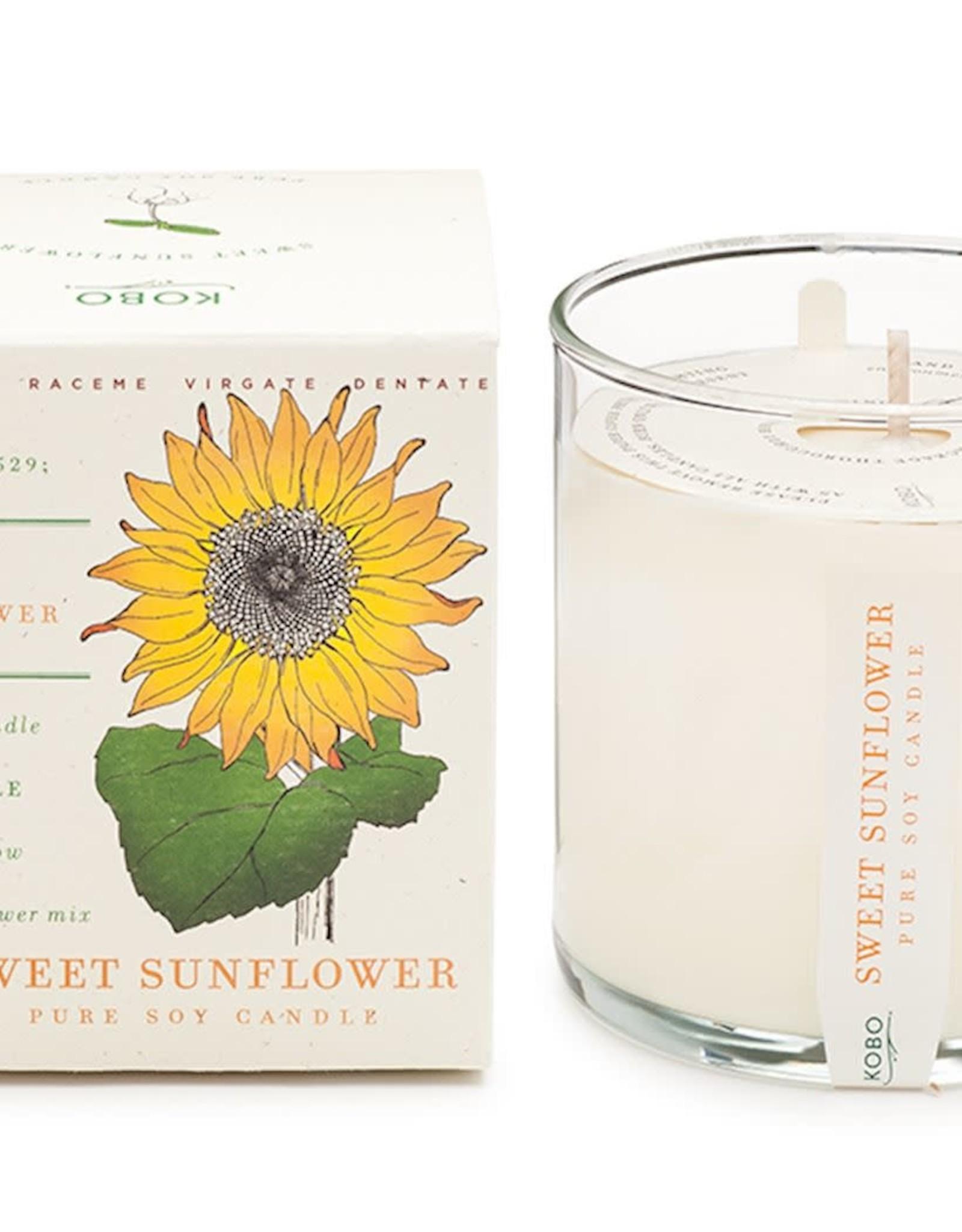Kobo Geurkaars sojawas - Sweet Sunflower 60u brandtijd