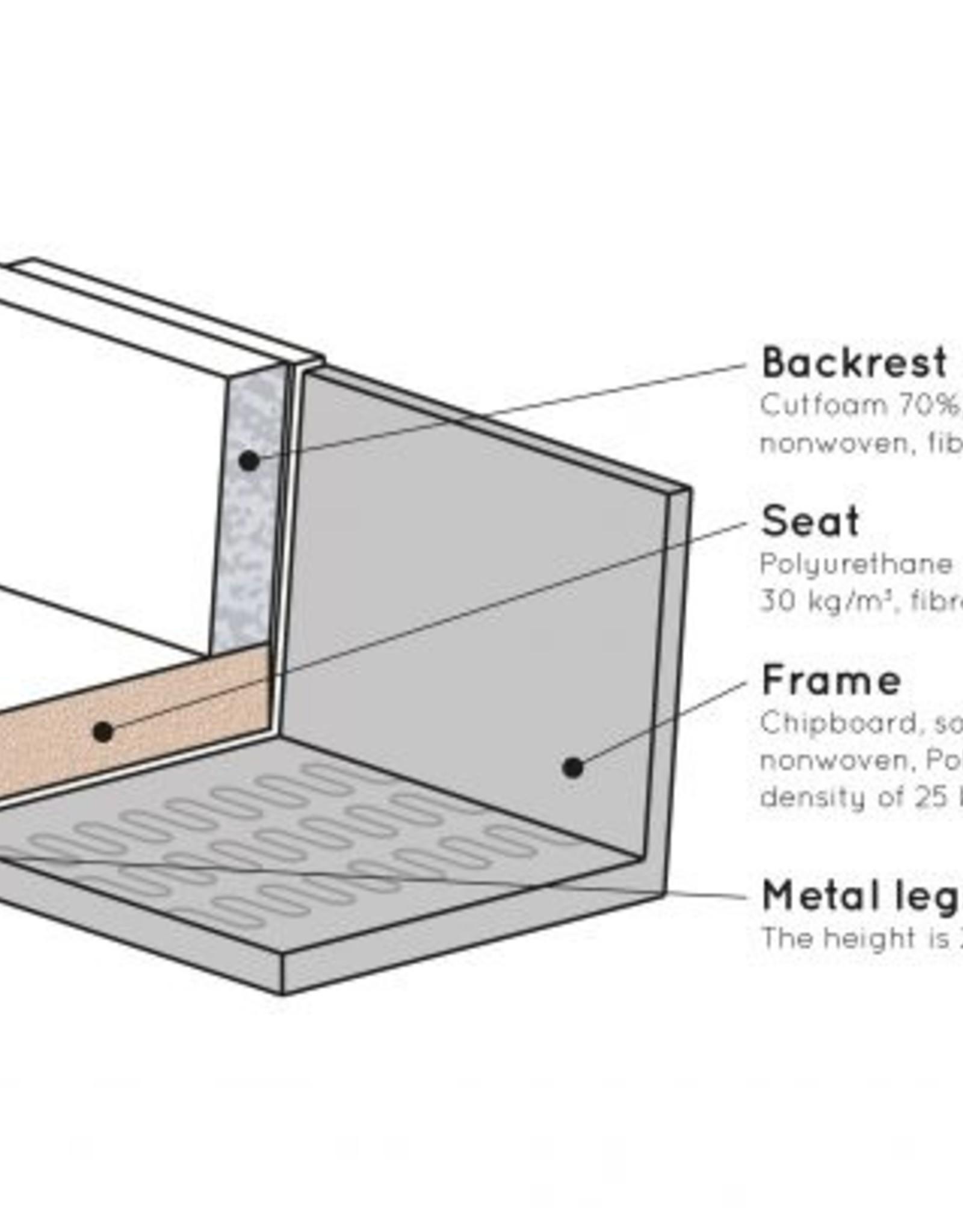 Zetel 3-zit Recycle-Leder (4 kleuren)