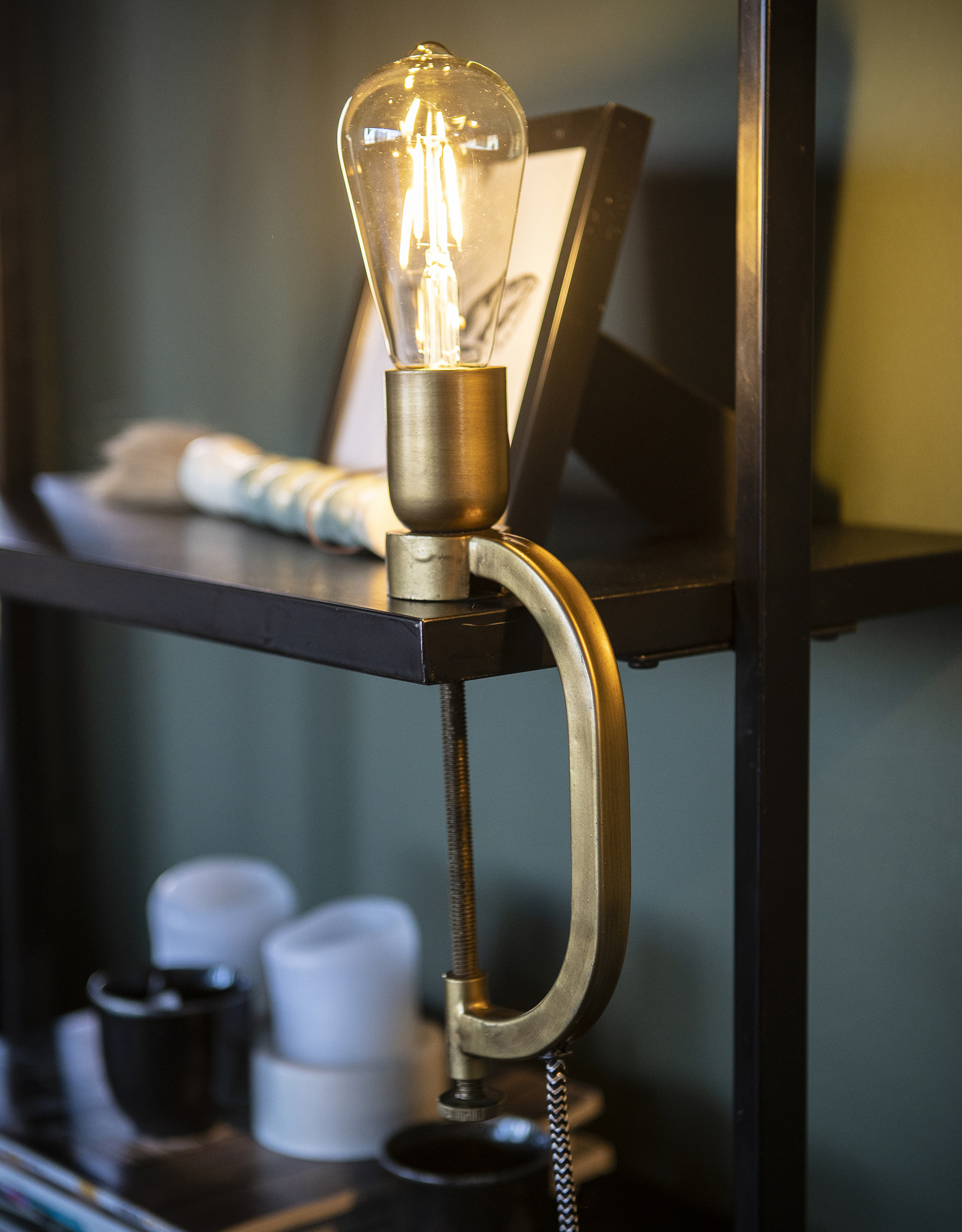 Klemlamp Gold brass