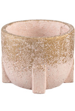 Bloempot Pink & Gold