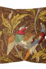 Kussen Art Deco Birds - mokka