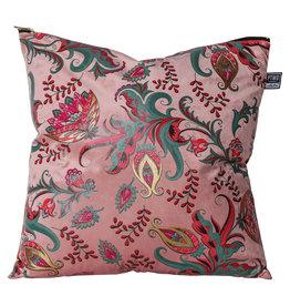Kussen Art Deco Flowers - roze