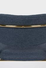 Stoel met gouden frame en armleuningen (4 kleuren)