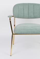 Fauteuil met gouden frame en armleuningen (4 kleuren)