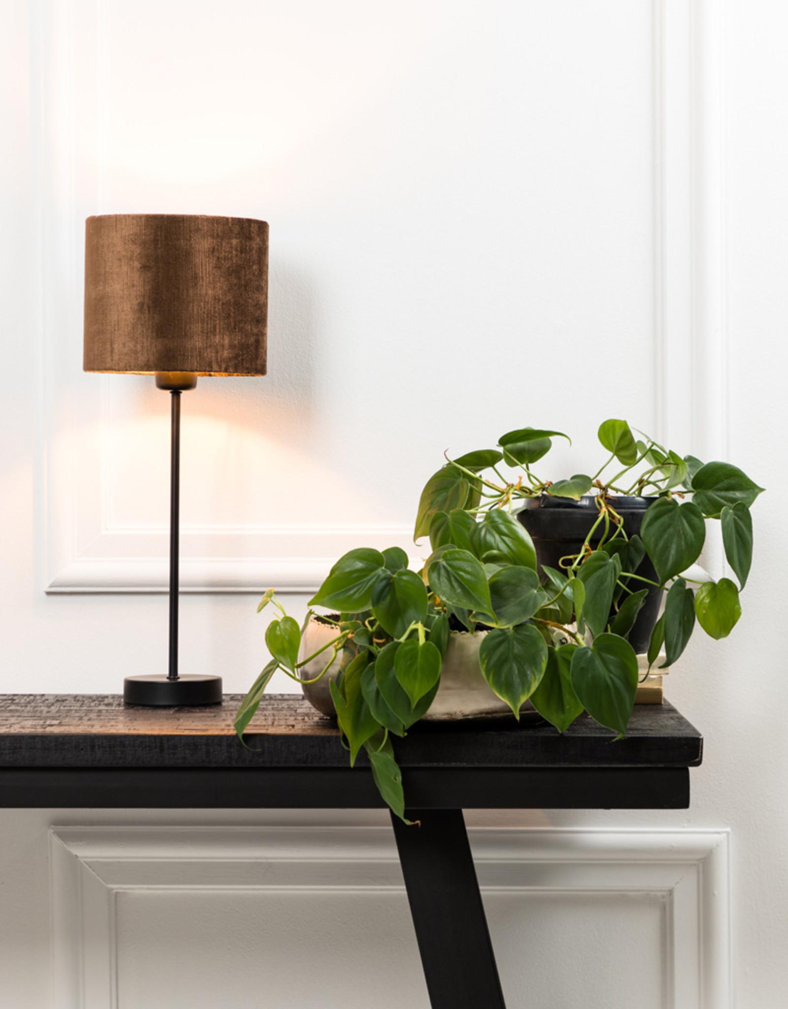 Lampvoet mat zwart