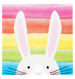 Servetten 33 x 33 cm - Hop Over the Rainbow Bunny